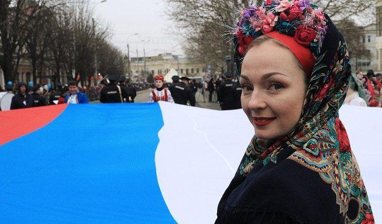 Жители Крыма отмечают третью годовщину референдума по статусу Крыма © Алексей Павлишак/ТАСС