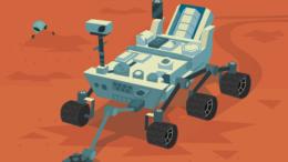 Так художник шуточно представил марсоход Curiosity глазами обитателей Марса.