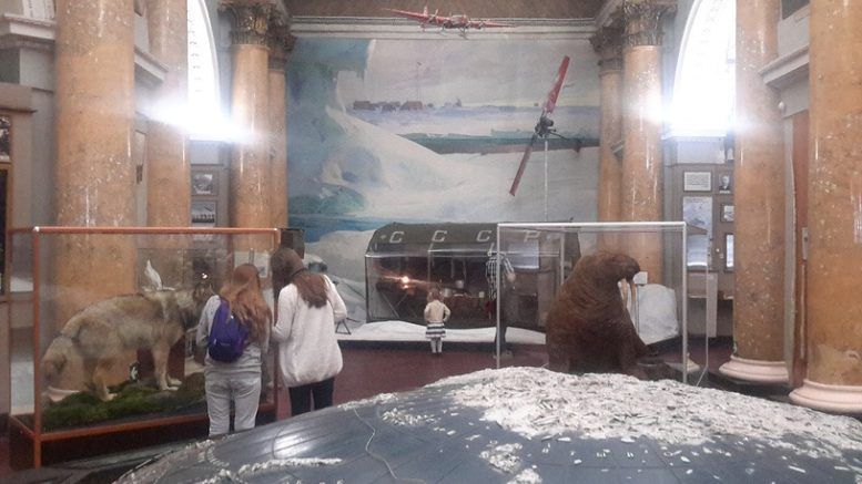 """Выставка """"На дрейфующих льдах Арктики"""" в Санкт-Петербурге © Наталия Михальченко/ТАСС"""
