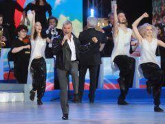 Выступление Олега Газманова во время концерта на Красной площади © Сергей Фадеичев/ТАСС
