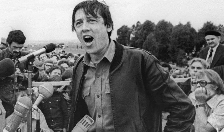 Актер Валерий Золотухин выступает в селе Сростки на Шукшинских чтениях. Алтайский край, 1979 год © Виктор Садчиков/ТАСС