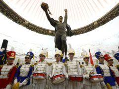 """Музыкальный флешмоб """"Мы едины"""" в рамках празднования Дня народного единства, Москва © Станислав Красильников/ТАСС"""