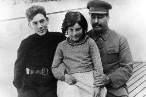 Сталин с детьми: Василием и Светланой
