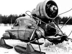 ГАЗ М-20 «Победа Север» – модификация автомобиля для езды по снегу, средняя скорость 30-35 км/ч. (Фото: YouTube)