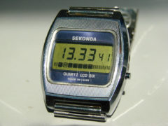 Sekonda QUARTZ LCD SIX. 1977 год выпуска. Эта модель — очень редкая. Она шла только на экспорт. (Фото: Сергей Фролов / leningrad.su)